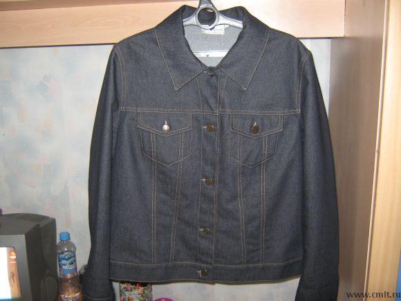 Куртка джинсовая р.48-50. Фото 1.