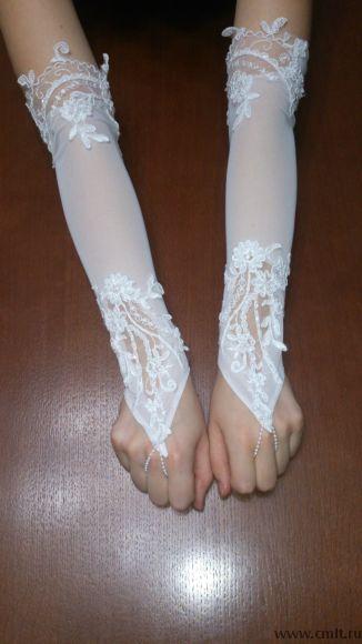 Продам фату, перчатки.